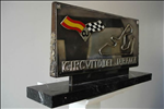 Side view Graham Hill 68 Spanish GP trophy